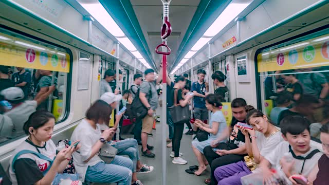 广州_地铁车厢_延时