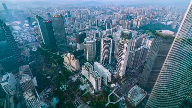 广州_珠江新城花城汇延时俯拍
