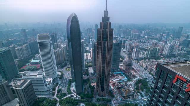 广州_乔鑫国际_珠江城大厦_广晟国际大厦由下往上延时