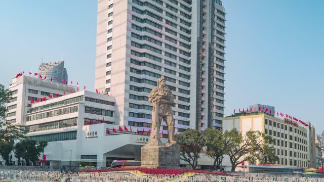 广州_海珠广场_人民英雄雕像_大范围延时拍摄