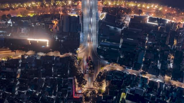 广州_海珠桥_海珠广场夜景航拍延时