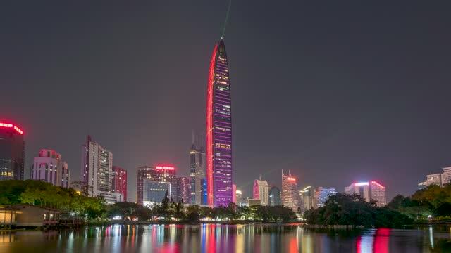 深圳_京基一百_深圳地标夜景延时