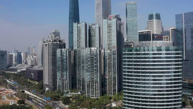 广州_珠江新城地标建筑群航拍合集
