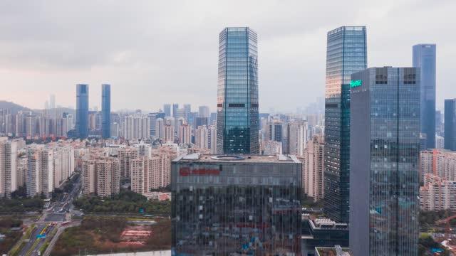 深圳_穿越深圳人才公园_航拍延时