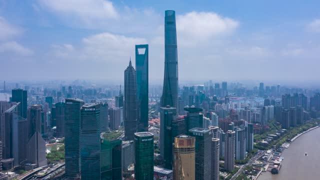 上海_环绕上海CBD_浦东三件套_航拍延时
