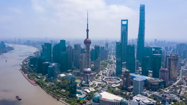 上海_上海CBD_环绕_航拍延时