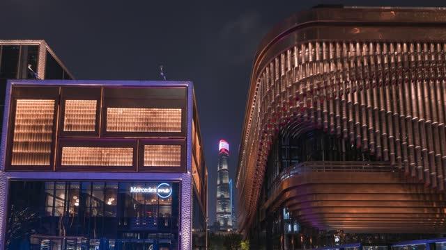 上海_BFC_上海中心大厦_城市建筑延时