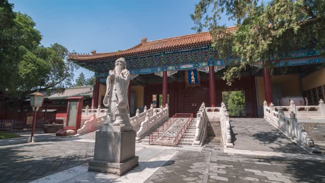 北京_孔子行教像_国子监大成殿