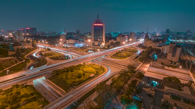北京_莲花桥_夜景延时