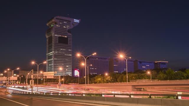 北京_盘古大观_夜景延时