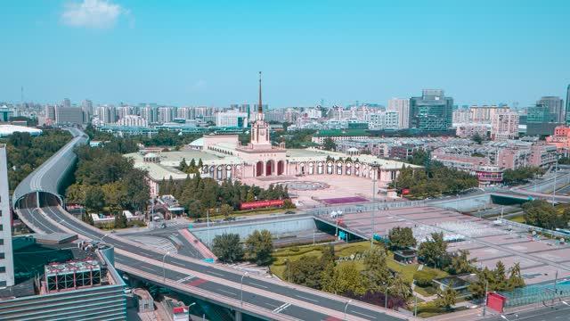 北京_北京展览馆_车流