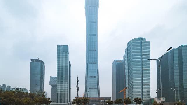 北京_北京CBD_商业区建筑群_中国尊
