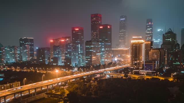 北京_国贸_建外SOHO_夜景
