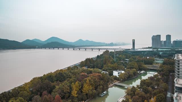 杭州_钱塘江大桥_江景