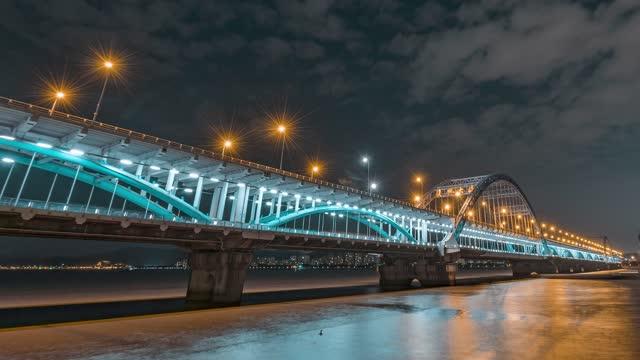 杭州_复兴大桥_桥底_夜景