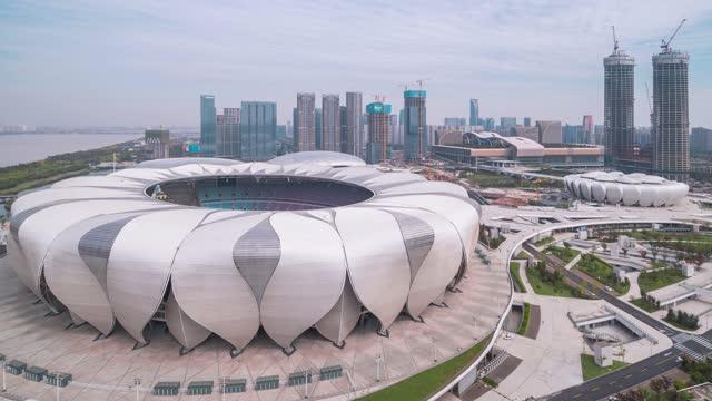 杭州_奥体博览中心_2022年亚运会主会场_大景