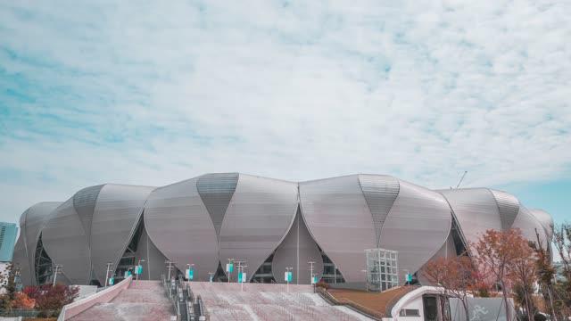 杭州_奥体博览中心_2022年亚运会主会场_特写