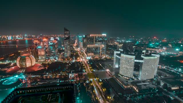 杭州_杭州中央商务区_大景_夜景