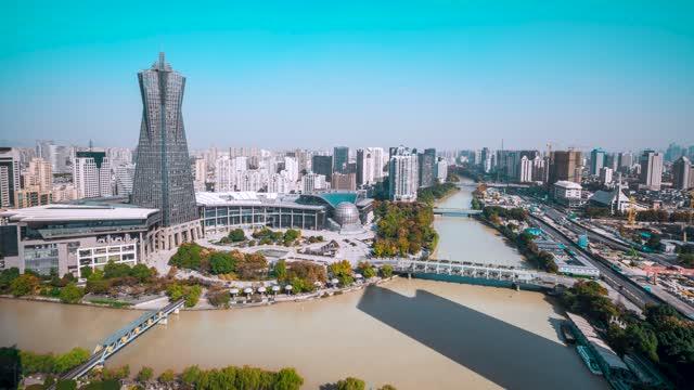 杭州_京杭大运河_西湖文化广场_西湖文化桥
