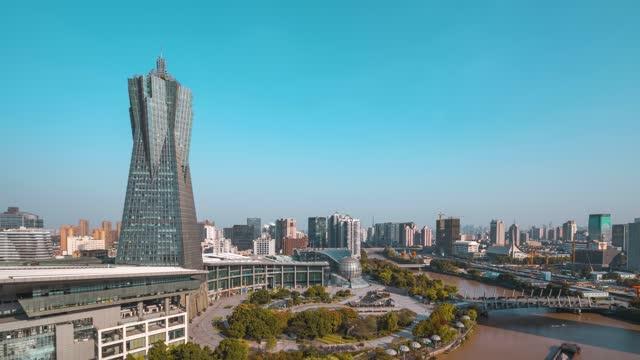 杭州_西湖文化广场_浙江省科技馆_京杭大运河