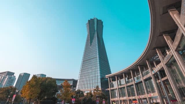 杭州_西湖文化广场_平移_大范围延时
