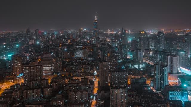 南京CBD_紫峰大厦_夜景延时