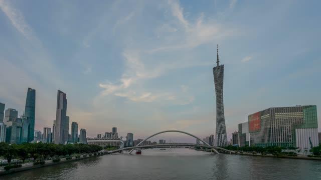广州_海心桥_日转夜延时