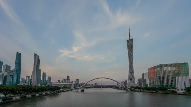 广州_海心桥_日转夜延时_去闪